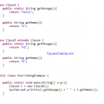 Java Quiz 7 - Overriding