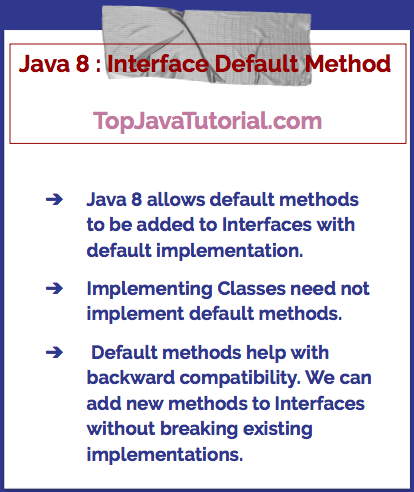 Java 8 default interface method