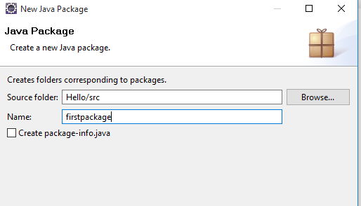 java new package