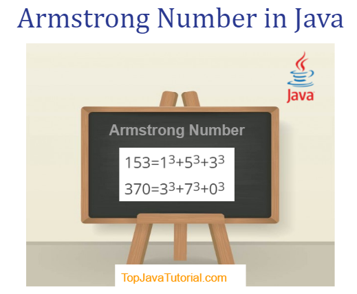 Armstrong number program in java