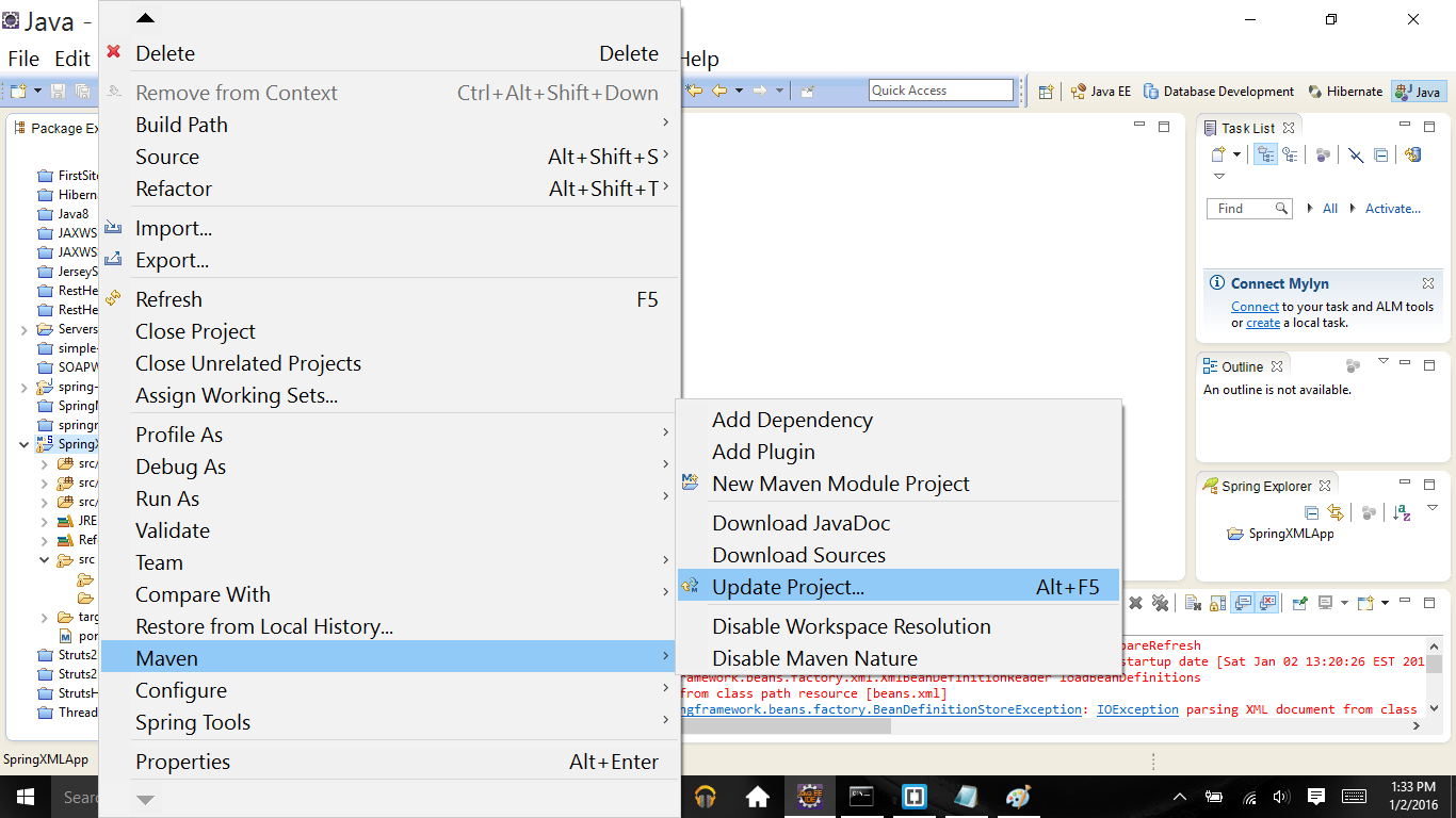 maven add resources folder