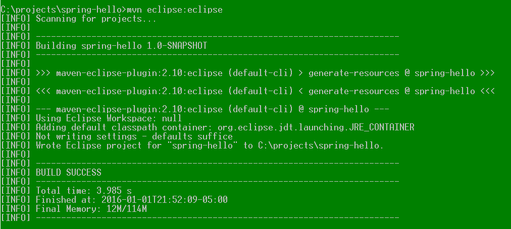 convert maven project to eclipse