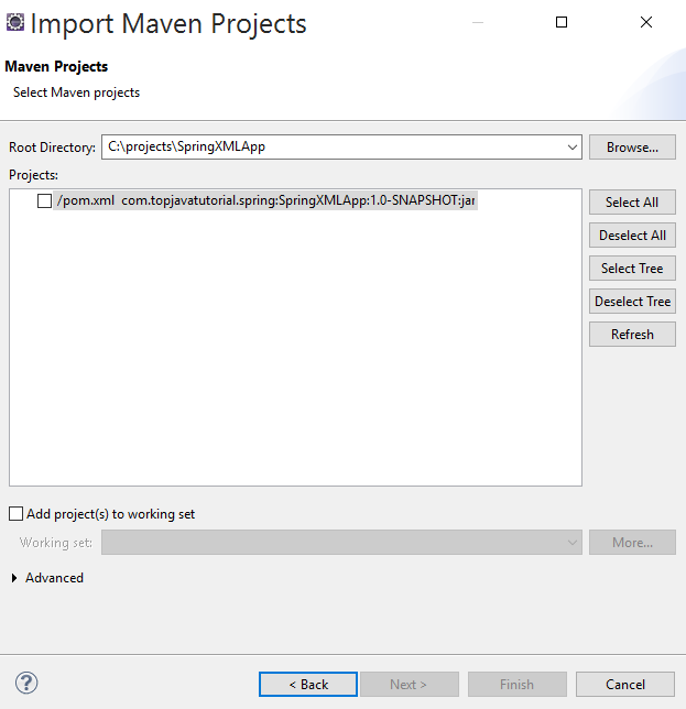 import maven projects