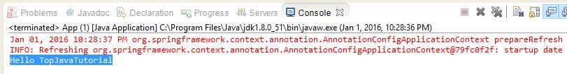 spring annotation program output