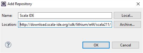 Add Scala IDE update site 2