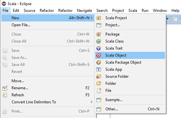 create scala object