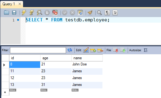 JDBC Updatable ResultSet