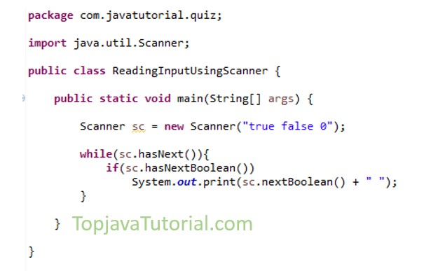 Java quiz on reading Input data using Scanner - Top Java Tutorial