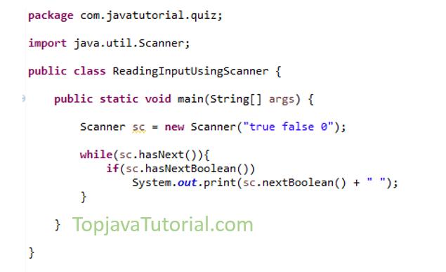 Java Quiz on Scanner
