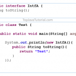 Java quiz on implementing interface