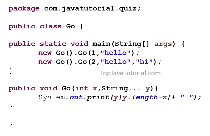java varargs quiz