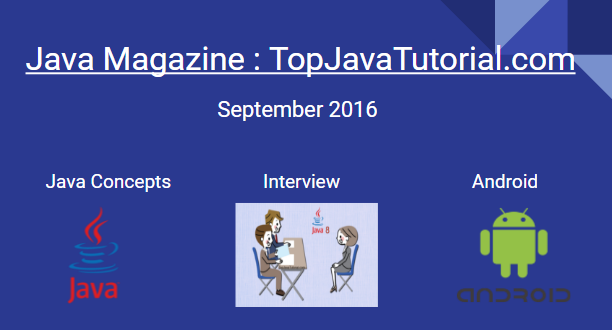 TopJavaTutorial Magazine September 2016