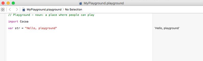 Xcode Playground Hello World