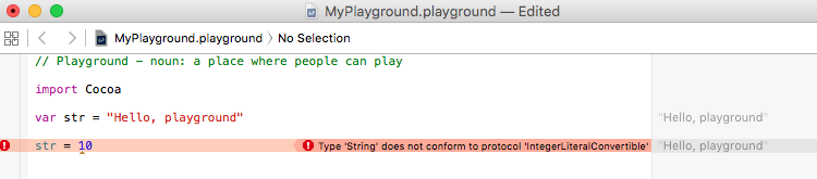 swift playground variable