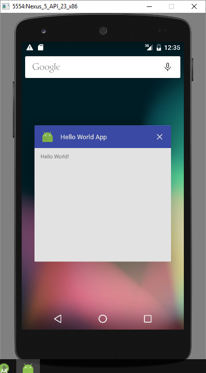 android hello world