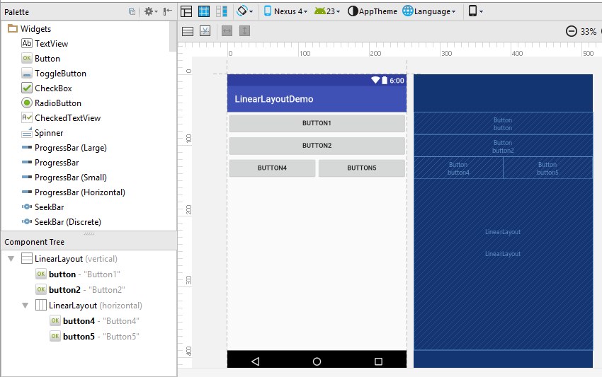 linear layout android