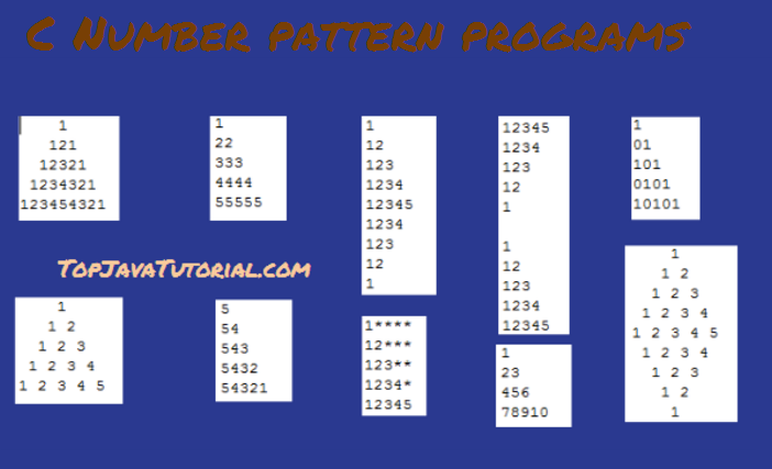 Number Pattern Programs in C
