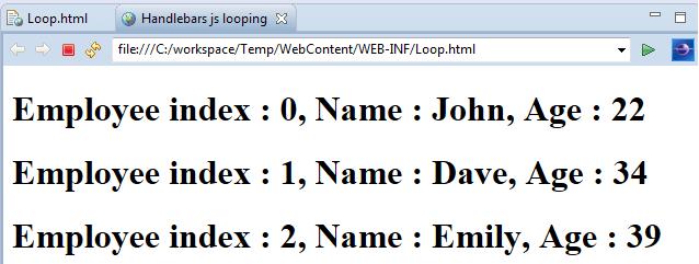 handlebars loop index