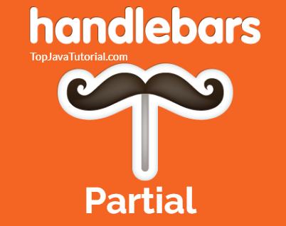 handlebars partials logo