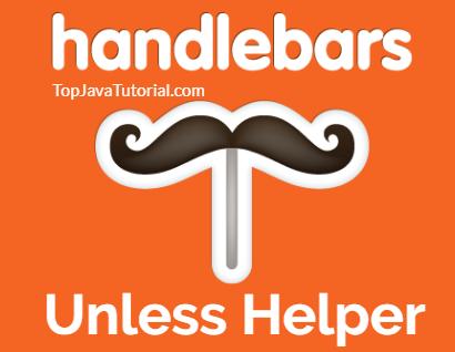handlebars unless helper logo