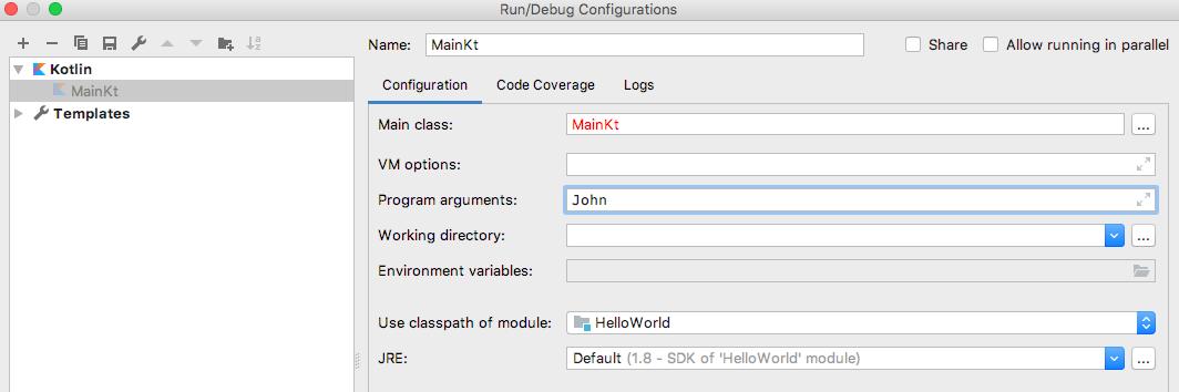 Reading command line arguments in Kotlin - Top Java Tutorial