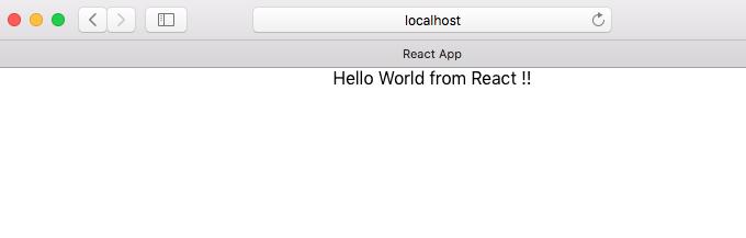 react hello world